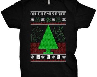 Oh Chemistree T-Shirt Science Shirt Funny Chemistry Teacher Gift Christmas Math PI Nerd Geek Tee