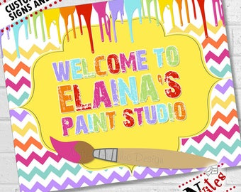 Paint Birthday Party Sign, Art Birthday Party, Painting Party Welcome Sign, Art Party Sign & Decor, Paint Party Decor | PRINTABLE