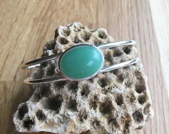 Aventurine Bracelet Green Aventurine Bangle Torque Bracelet Adjustable Bracelet Womens Bracelet Gift Womens Jewellery Gift For Her SPB41