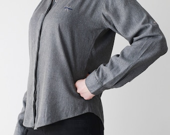 Women Vintage Oversize Shirt Blouse Calvin Klein 90s