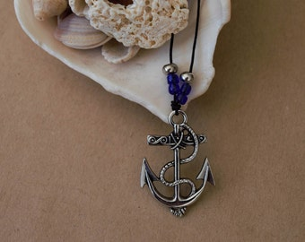 Anchor Necklace, Pirate Necklace, Beach Necklace