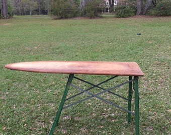 Vintage Ironing Board, Wood Ironing Board, Farmhouse Decor, Sofa Table,