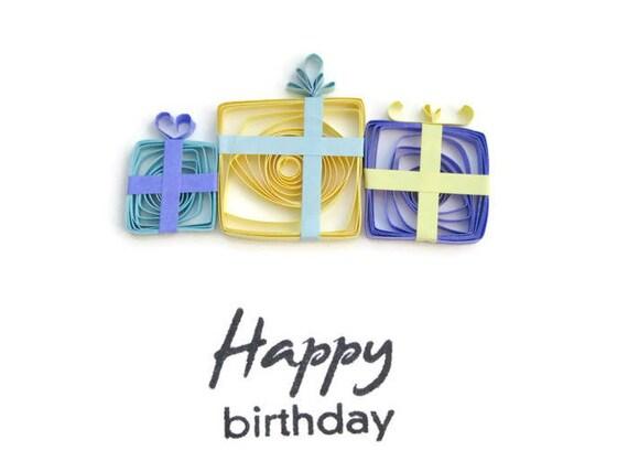 Happy Birthday Greeting Card Quilling Birthday Cards – Gift Card Happy Birthday