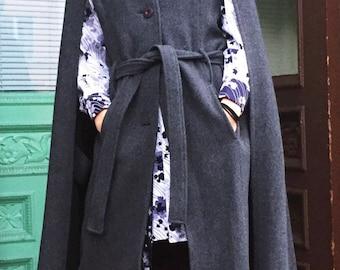 Spiewak Grey Wool Cape