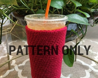 Medium Crochet Coffee Cozy PATTERN