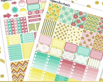 50%off tropical sunrise  Printable Planner Stickers | Instant Download | Pdf and Jpg Format
