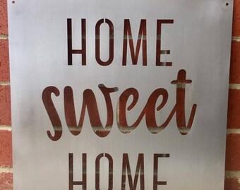 Metal Wall Art - Home Sweet Home