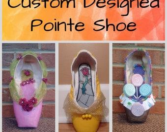 Custom Designed Pointe Shoe