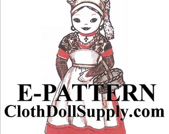 E-Pattern – Miss France Cloth Doll Sewing Pattern #EP 983