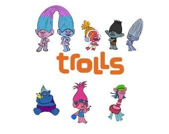 trolls svg, Disney svg, Poppy Troll svg, Trolls Birthday, Troll hair svg, Trolls movie svg, Trolls svg file, svg files for cricut,