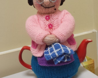Knitted  tea cosy , Mrs Brown
