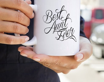 Best Aunt Ever Mug - Pregnancy Reveal - Gift ideas for Aunts -Auntie Mug for New Aunts - Sister Aunt gift mug - New Baby