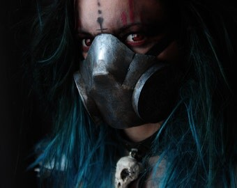 gas mask post apocalyptic - respirator - mad max - anti radiation - diesel punk - halloween costume - immortan joe - post atomic - wasteland