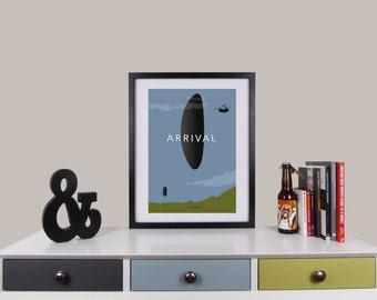 Arrival Print, Minimalist Movie Poster