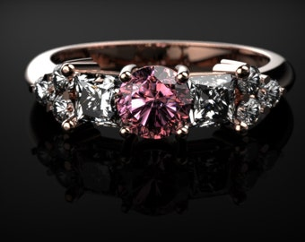 Pink Sapphire Ring Rose Gold Engagement Ring Pink Sapphire Engagement Ring Pink Gemstone Engagement Ring Pink Sapphire Ring October  Ring