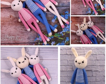 Stuffed Animal Amigurumi bunny Toy Stuffed bunny Animal Baby toys bunny Baby toys rabbit crochet bunny Crochet Rabbit Toy plush bunny