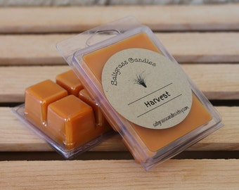 Harvest Wax Melts - Soy Blend Wax - Wax Cubes - Wax Tarts - Hand Poured - Gift Idea