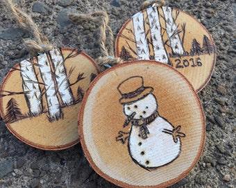 LARGE Tree Slice Ornament, Custom Ornament, Wood Slice Ornament, Personalized Stocking Stuffer, Secret Santa Gift, Handmade Christmas Gift