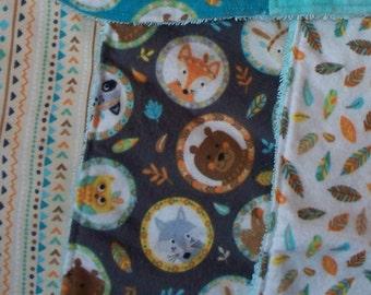 Woodland Animal Bib & Burp Cloth Sets