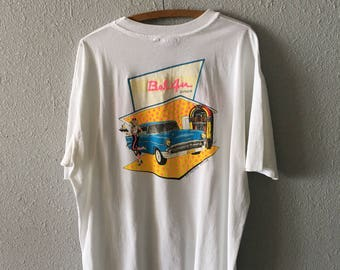 Vintage Chevrolet 1980's Bel Air 1950's 50's Diner Hot Rod Muscle Car Graphic T Shirt