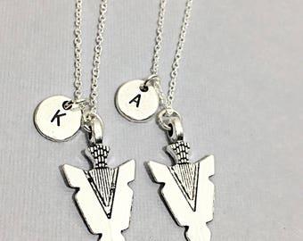 2 Sterling Arrowhead Necklace, Men's Gifts, Bohemian Jewelry,