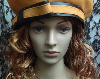 Yellow Vintage Beret By Created for Essence 80's