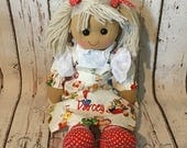 Personalised Rag Doll birthday new baby christening dedication gift any name embroidered beautifully handmade angel fairy