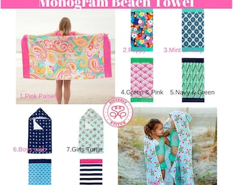 Monogram Beach Towels,  Personalized Beach Towels, Pool Towels, Bridesmaids gifts