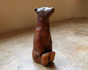 Brown Bear Sculpture Ornament