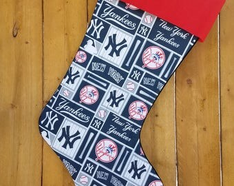 NY Yankees Quilted Christmas Stocking