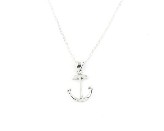 Sterling Silver Anchor Necklace, Beach Jewelry, Nautical, Fishing, Surf, Boho, Gypsy, Festival, Hippie