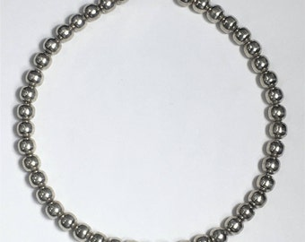 Antique Silver Bead Necklace- Sterling Silver