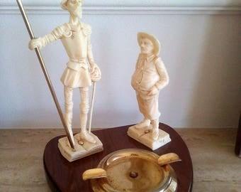 Vintage Spanish Don Quixote&Sancho Panza Ashtray, Made in Spain Don Quixote and Sancho Panza Ashtray, Vintage Ashtray, Don Quixote Ashtray