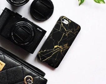 Black Marble iPhone 6 Case iPhone 6s Case iPhone 6 Plus 6s Plus iPhone 7 7 Plus  iPhone 5 5s SE Case Samsung Galaxy S6 S6 Edge S7 S7 Edge
