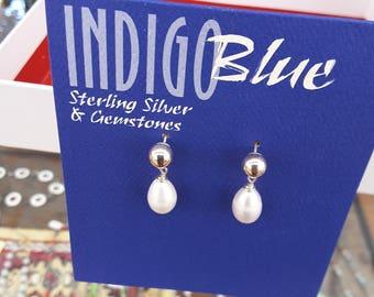 Fresh Water Pearls and Sterling Earrings