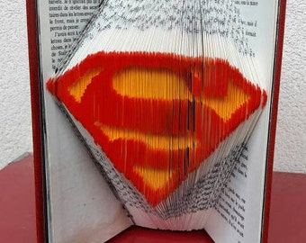 Superman - Folded book colorized