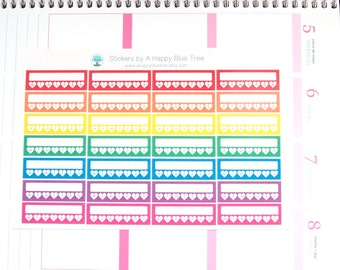 Colorful (Bright) Weekly Reminder Tracker Erin Condren Life Planner Kikkik Mambi Kawaii Cute ...