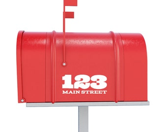 Custom Door Numbers Decal - Mailbox Numbers Decal / Mailbox Stickers / Door Decals