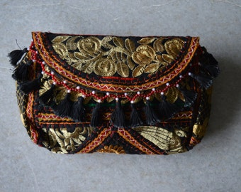BAHAR CLUTCH- Banjara bag, Banjara Clutch India, Boho Bag, Gypsy Bag
