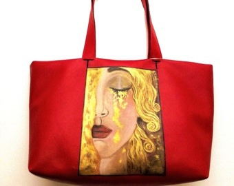 Tears of Freyja bag made and painted by hand, one piece