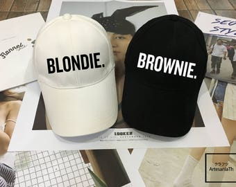 Blondie Brownie hat, Baseball hat, Couples Hats , Valentine day, king hat Queen hat Low-Profile Baseball Cap Baseball Hat