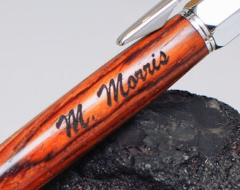 Option of Engraving for Wooden Pen or Pocketwatch - Text or Logo