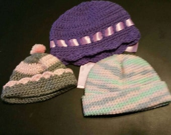 3 bennies infant to 6 months handmade