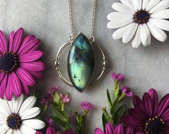 Cat Eye Labradorite Necklace