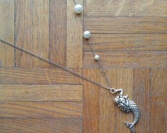 Pearl fisherwoman long necklace