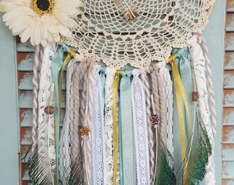 Bohemian Dream Catcher Peacock//Bohemian Dream Catcher// boho//wedding decor//baby shower//home decor//