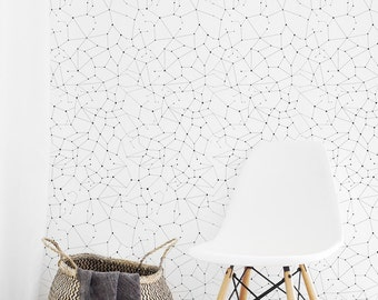 Constellations Wallpaper /  Removable Wallpaper or Traditional Wallpaper A005