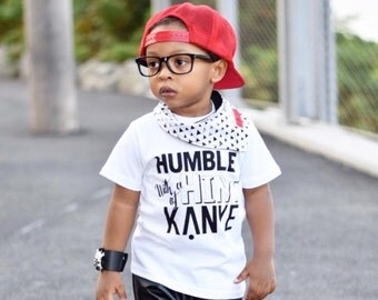 Humble with a hint of Kanye - Kids graphic tee - Screen print - Toddler t-shirt - Baby t-shirt - Graphic shirt - Kids apparel - Kids tee