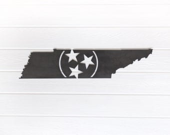 Tennessee Tri-Star Metal Art  |  University of Tennessee volunteers rustic home decor man cave gift for dad