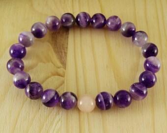 Beaded bracelet Women bracelet Girlfriend gift Christmas gift for wife Everyday bracelet Amethyst bracelet Meditation bracelet healing stone